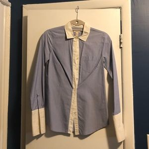 J. Crew size 00 blue button down with French cuffs